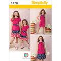 Simplicity Pattern 1478HH 3-4-5-6 -Child Girl Sportswea