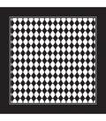 Carolina Domestic Bandanna 22\u0022X22\u0022-Black/White Diamond