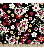 Disney® Minnie Floral Toss Cotton Fabric, , hi-res
