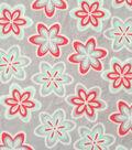 Soft & Comfy Fleece Fabric 57\u0022-Sugar & Honeydew Flowers