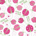 Nursery Flannel Fabric 42\u0022-Love Bug Toss
