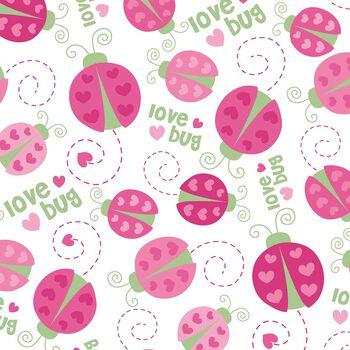"Nursery Flannel Fabric 42""-Love Bug Toss"