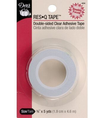 """Dritz 0.75"""" x 5Yds Res Q Double-Sided Clear Adhesive Tape"""