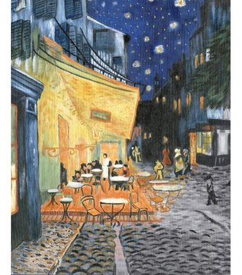 "Oil Painting Masterpiece Set 16""X20""-Terrace At Night"