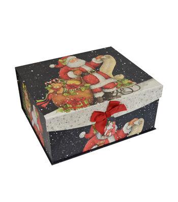 Maker's Holiday Large Flip Top Box-Santa
