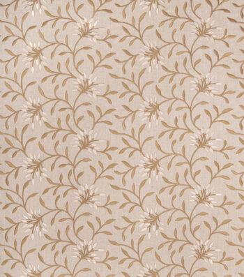 "Eaton Square Print Fabric 52""-Greenville/Linen"
