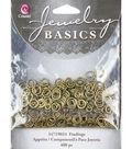 Jewelry Basics 4mm/6mm Jump Rings 400/Pk-Antique Gold