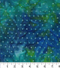 Legacy Studio™ Batik Cotton Fabric 44\u0022-Dot Blue Green
