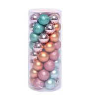Maker's Holiday 30 mm Mini Shatterproof Ornaments-Green, Orange & Pink, , hi-res