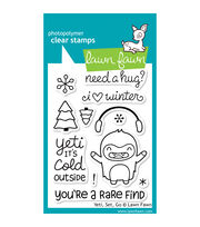 "Lawn Fawn Clear Stamps 3""X4""-Yeti, Set, Go, , hi-res"