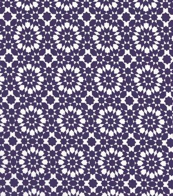 "Quilter's Showcase™ Cotton Fabric 44""-Grape Kaleidescope On White"