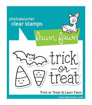 """Lawn Fawn Clear Stamps 3""""X2""""-Trick Or Treat"""