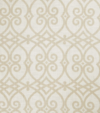 "Jaclyn Smith Upholstery Fabric 54""-Gatework Rot/Cashew"