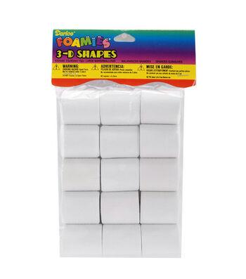 Darice Foamies Shapes-15PK/Marshmallow