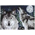 Wonderart Latch Hook Kit 27\u0022X40\u0022-Midnight Wolves
