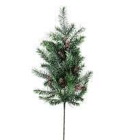 Blooming Holiday 29'' Douglas Fir, Cedar, Berries & Pinecone Spray, , hi-res