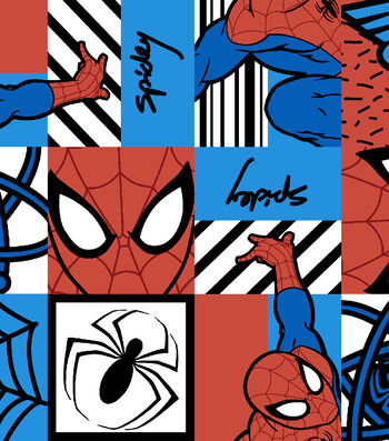 Marvel Comics™ Spiderman Cotton Fabric 43''-Spiderman Tile