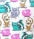 Snuggle Flannel Fabric 42\u0022-Kitty Breeds