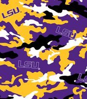 "Louisiana State University Tigers Cotton Fabric 44""-Camo, , hi-res"