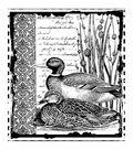 Crafty Individuals Unmounted Rubber Stamp 4.75\u0022X7\u0022 Pkg-Mallard Duck Pair