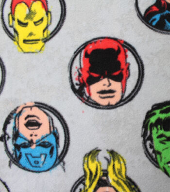 "Marvel Comics™ Fleece Fabric 58""-Badges"