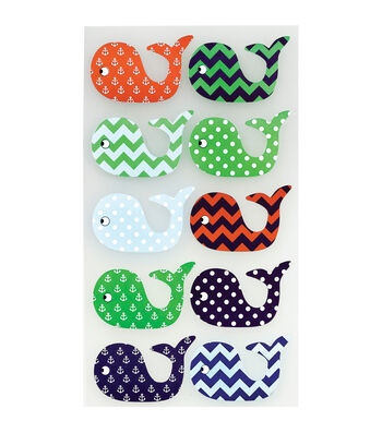 Sticko Classic Stickers Patterned Whales