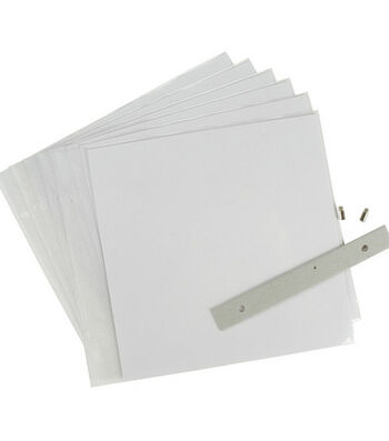 """8""""x8"""" Top-Loading Page Protectors-6PK"""