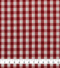 Cotton Shirting Fabric 42\u0027\u0027-Red & White Little Gingham