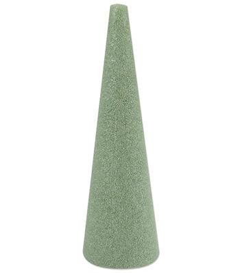 "Floracraft Styrofoam Cone 3-7/8""x11-7/8"" 1/Pkg-Green"
