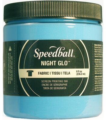Night Glo Fabric Screen Printing Ink 8oz-Blue