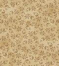 Susan Winget Premium Cotton Fabric 44\u0022-Leaf Vine Tan