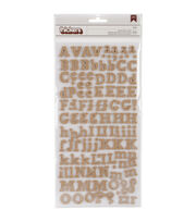 American Crafts DIY Thickers Alphabet Stickers Eric Burlap, , hi-res
