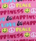 Blizzard Fleece Fabric-Peace Love Words