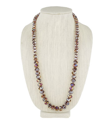 Long Solid Necklace Purple