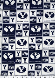 "Brigham Young University Cougars Cotton Fabric 43""-Block, , hi-res"