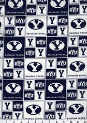 "Brigham Young University Cougars Cotton Fabric 43""-Block, , hi-res"