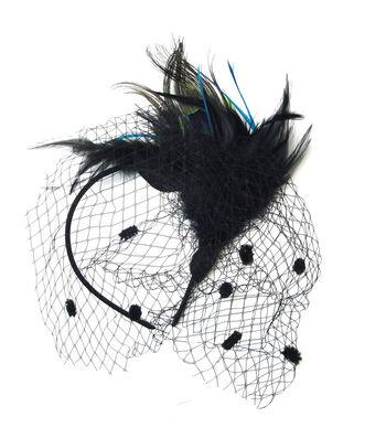 Maker's Halloween Deluxe Headband with Net-Peacock