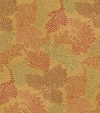 "Waverly Upholstery Fabric 54""-Mosaic Leaves Tuscan"
