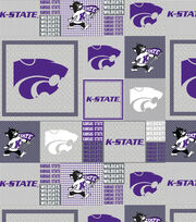 "Kansas State University Wildcats Fleece Fabric 60""-Grey, , hi-res"
