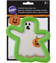 Wilton® Halloween 2 pk Comfort Grip Cookie Cutters-Ghost & Pumpkin, , hi-res