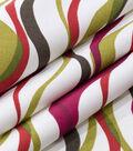 Robert Allen @ Home Lightweight Decor Fabric 55\u0022-Ribbon Line Poppy