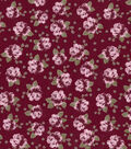 Buttercream™ Elizabeth Cotton Fabric-Ditsy Rose Burgundy
