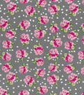 Buttercream™ Olivia Cotton Fabric 43\u0022-Ditsy Rose Gray
