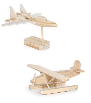 Wood Kit-Jet Bomber/Pontoon Plane