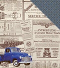Rugged Double-Sided Cardstock 12\u0022X12\u0022-Old Truck Newspaper