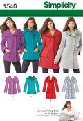 Simplicity Pattern 1540R5 14-16-18-2-Misses Jackets Coats