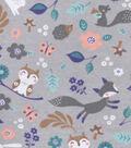 Snuggle Flannel Fabric 42\u0027\u0027-Cute Woodland Animals