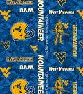West Virginia University Mountaineers Fleece Fabric 58\u0022-Digital Camo