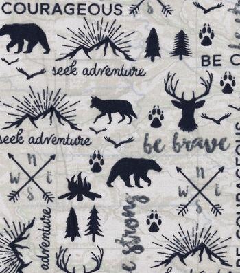 "Nursery Flannel Fabric 42""-Map"