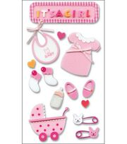 Jolee's Layered Foam Stickers-Baby Girl, , hi-res